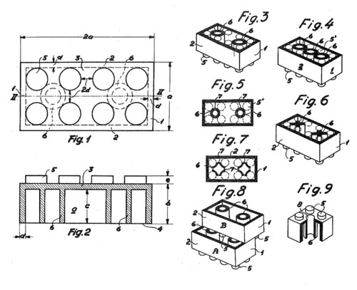 illustration fra legos patent  1958