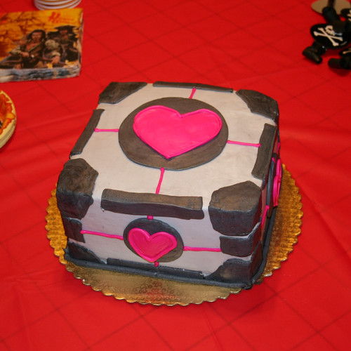 Companion Cube Cake | by freeforged