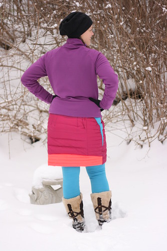 Refashion:  Down Jacket to Down Skirt | by patternandbranch