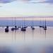 Sailboats in Door County Sunset - 2006