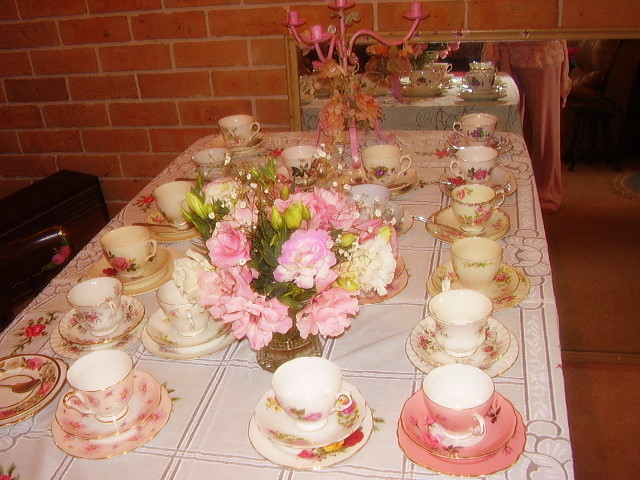 pretty pink shabby chic baby shower table setting party flickr