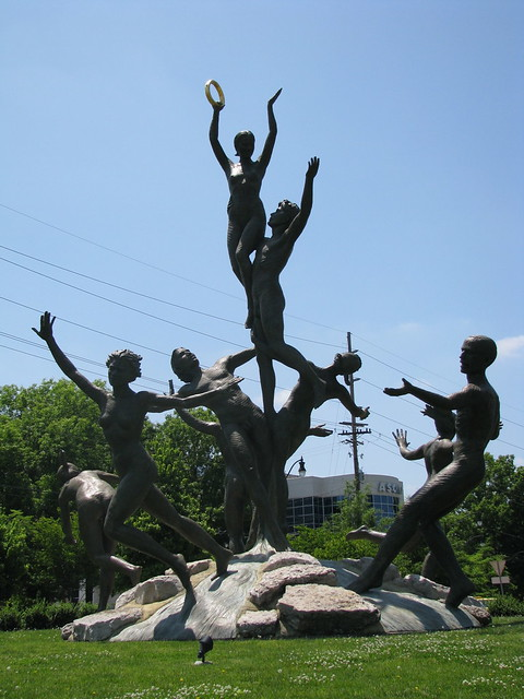 Musica   Musica statue on the Music Row Roundabout