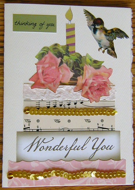 Karlas Great Aunt Carolines 100th Birthday Card Front