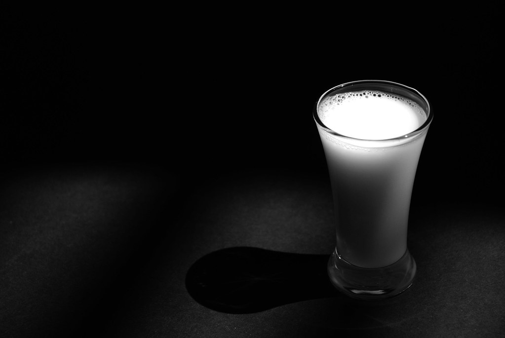 Ice Cold Glass of Milk | Nonfat organic goodness in black ...