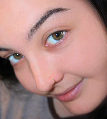 lovin my new handmade nose ring nose ring made by kates flickr