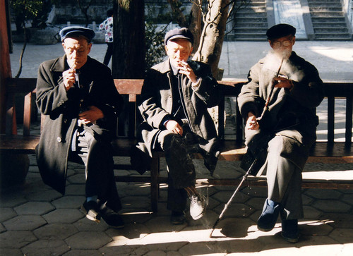 old men Kunming, China | by whitecat sg