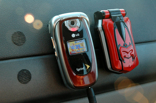 Car To Go >> Power Ranger Cell Phone | Basil also pimped out the dashboar… | Flickr