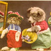 Kitten and Puppy Dress-Up - old pc - No 9386 - made in Switzerland - Leon Davidson, Distrib