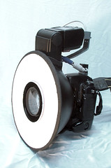 DIY ringflash finished, with camera | by akeeh