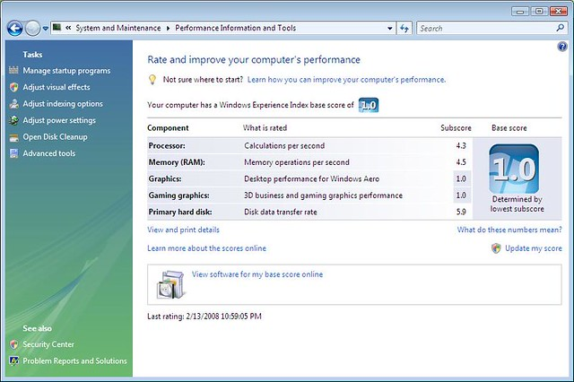 Parallels windows vista rating after over about a year R rating for windows