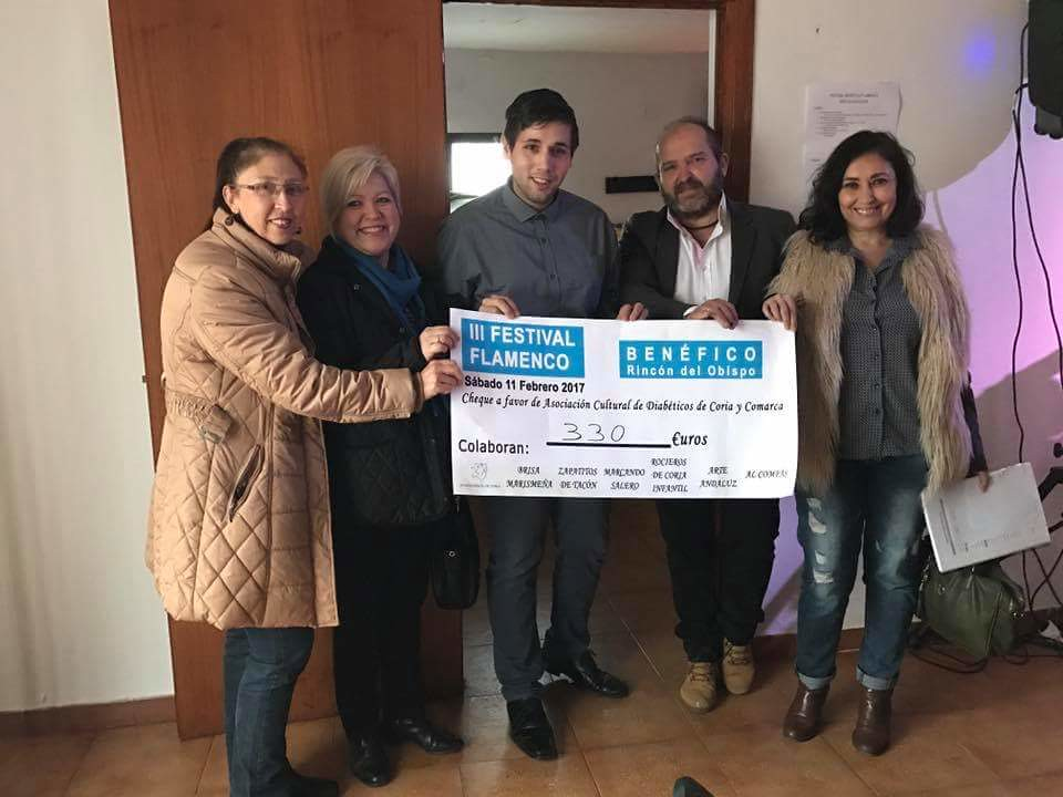 La pedanía cauriense de Rincón del Obispo recauda más de 300 euros para la Asociación Cultural de Diabéticos de Coria y Comarca
