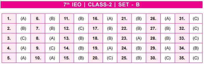 IEO SET B Class 2 Answer Key