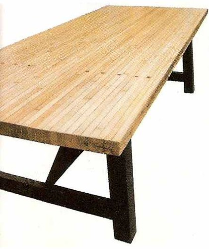 Repurposed bowling alley dining table big daddy antiques for Repurposed dining table