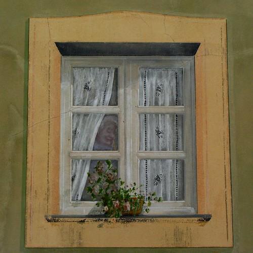 Finestra trompe l 39 oeil questa volta c 39 e 39 la vecchietta flickr - Trompe l oeil finestra ...