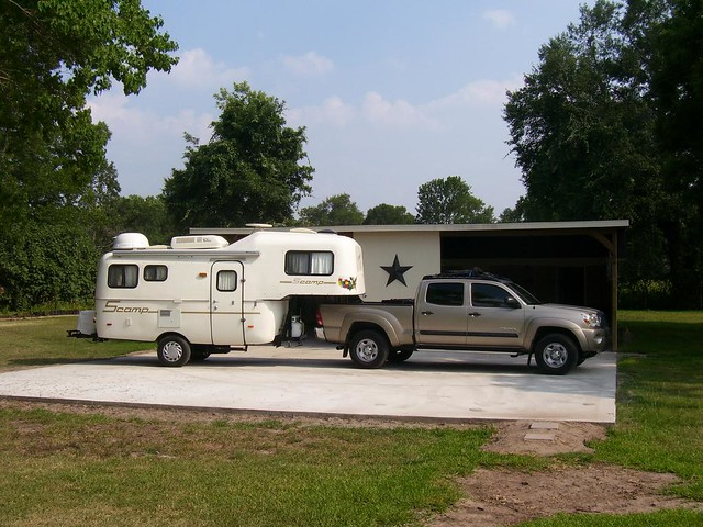 Tacoma Travel Trailer >> July 2006, Scamp travel trailer and second egg tow vehicle… | Flickr