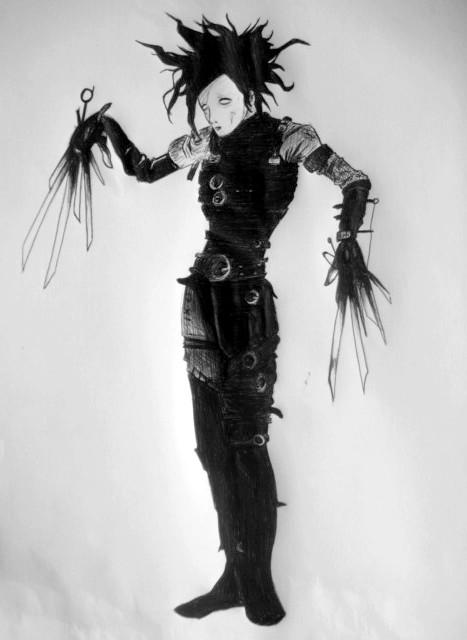 hombre manos de tijera... Johnny Depp