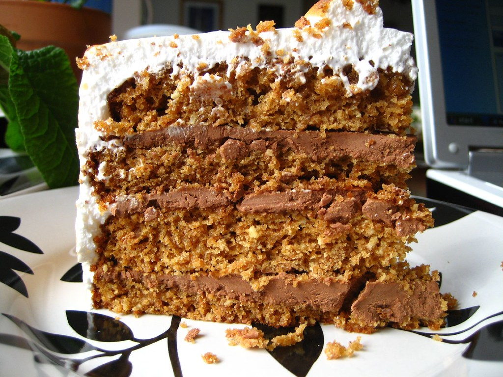 S Mores Cake With Chocolate Cake Mix