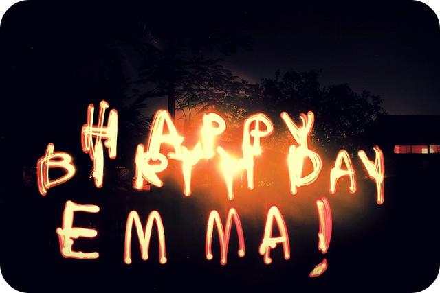HAPPY BIRTHDAY EMMA!   Flickr - Photo Sharing!