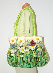 Felted Handbag - Camomile Field | by GalaFilc