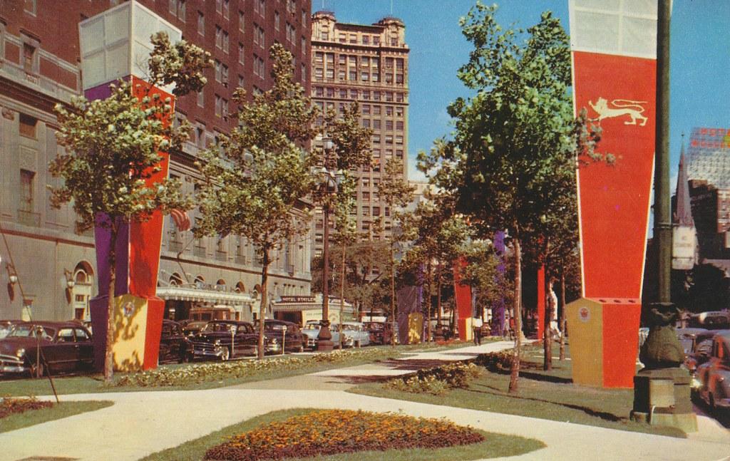 Washington Boulevard and The Statler Hotel - Detroit, Michigan
