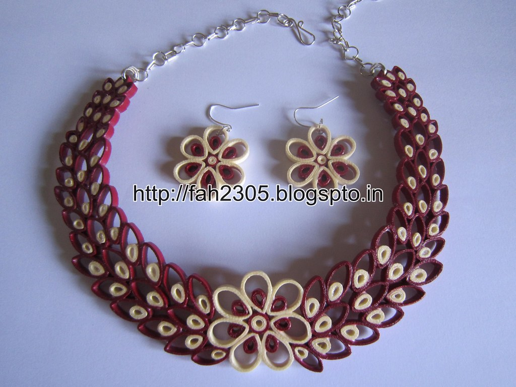 Gallery For gt Quilling Jewelry Set