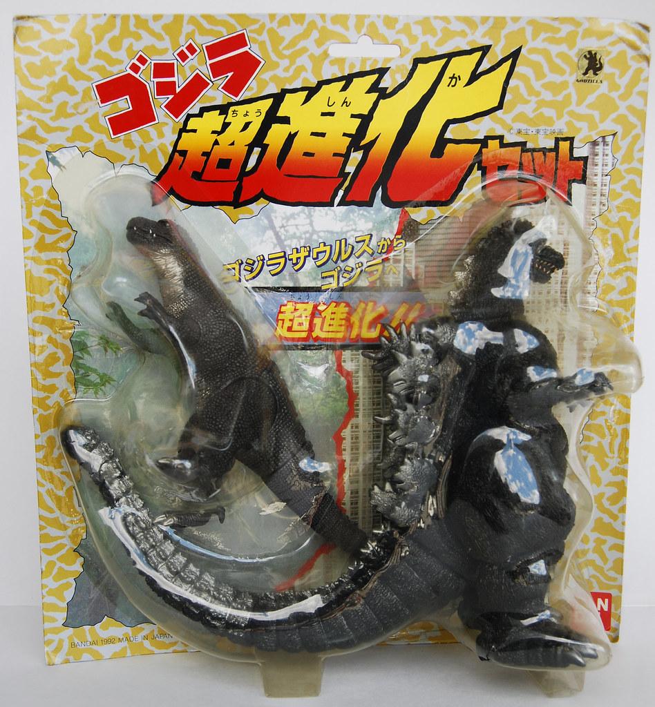 Godzilla 1993 Toys Bandai Godzilla Evolut...