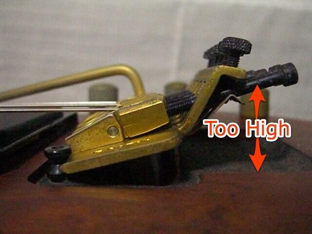 changing string guage adjusting a floating guitar bridge flickr. Black Bedroom Furniture Sets. Home Design Ideas