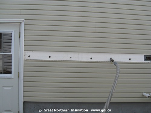 Gypsum Board Siding : Drill and fill through siding trained technicians can