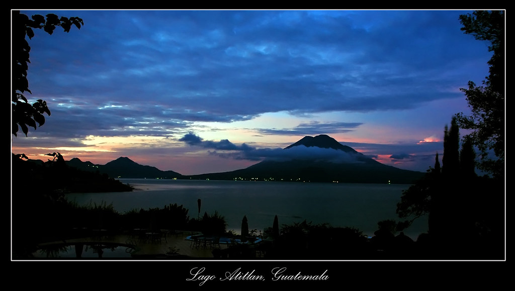 Lago Atitlan Panajachel Guatemala Sunrise At Lago De