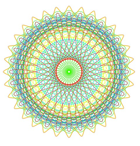 Spirograph Color Lace Several Spirographs Top