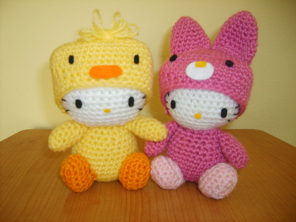 Crochet Chicken Hello Kitty Rabbit Hello Kitty Amigurumi Flickr