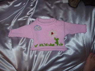 Embroidered Baby Sweater | by iwriteplays