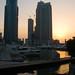 Sunset on Dubai marina