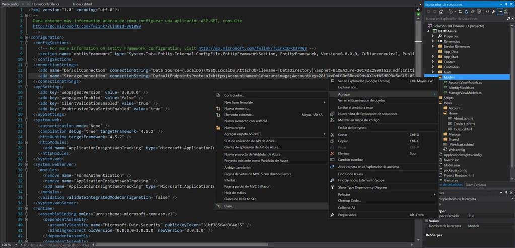 4.addClass Almacenamiento de BLOB en Azure