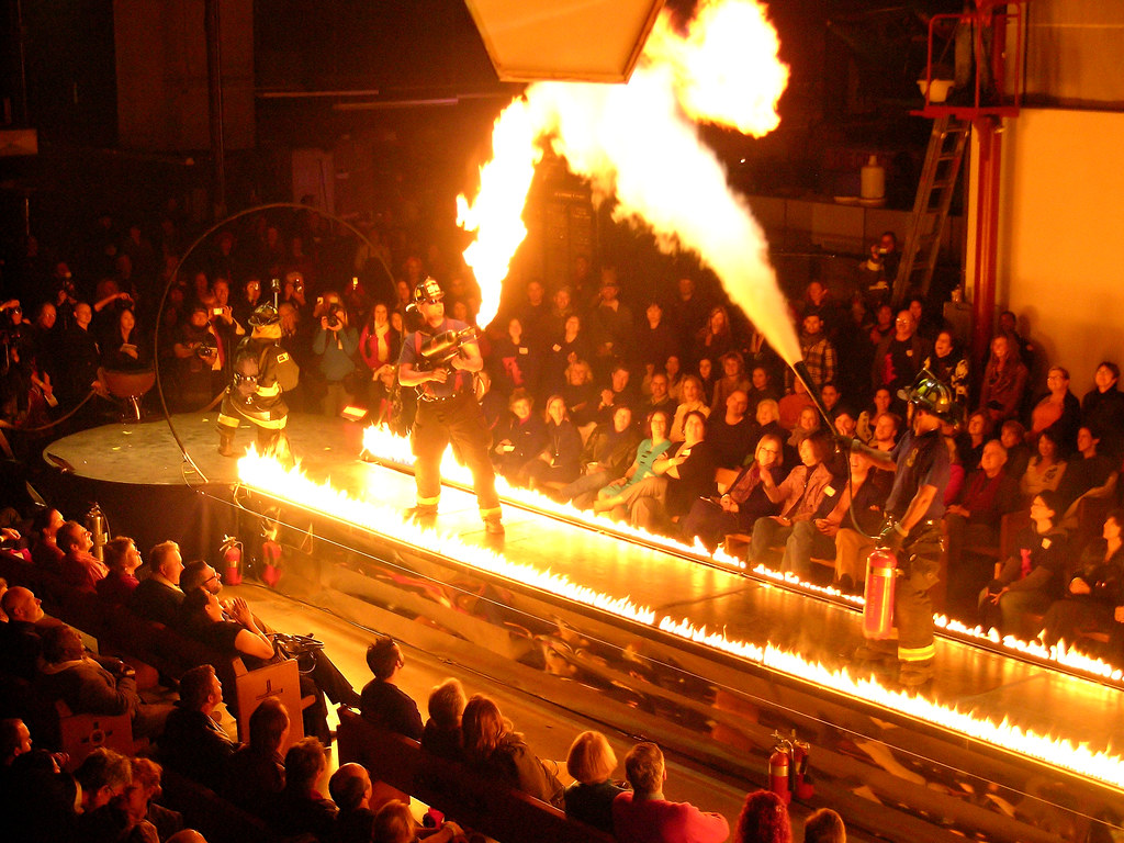 Flame Thrower Vs Fire Extinguisher At The Crucible Fashio Flickr