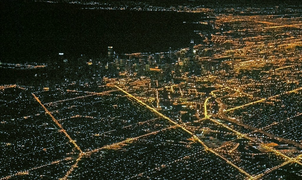 Chicago From Above At Night This Is The First Picture