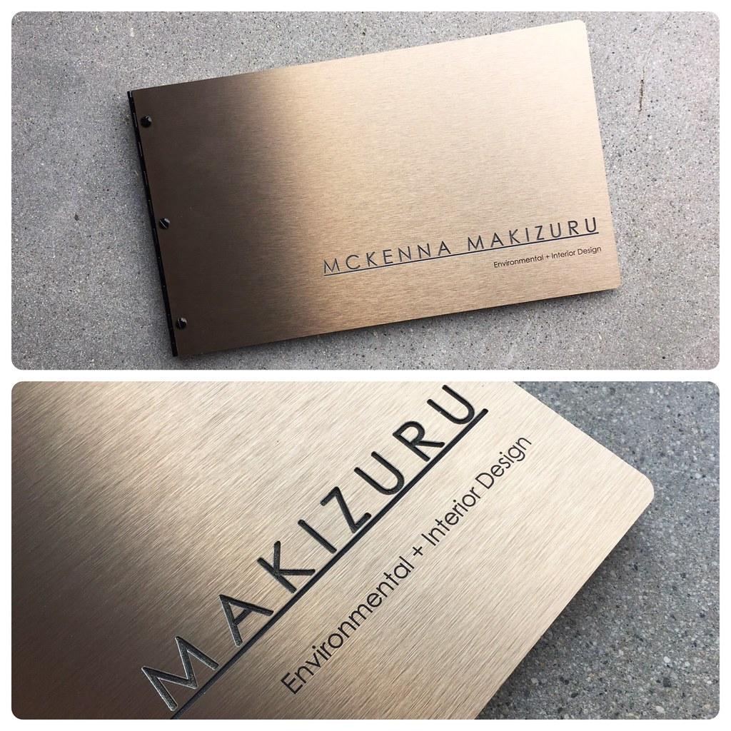 custom interior design portfolio book in brushed bronze wi flickr