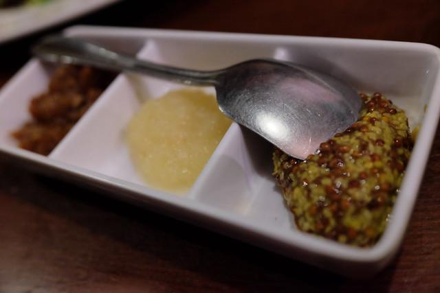seasonings whole-grain mustard, garlic, special one