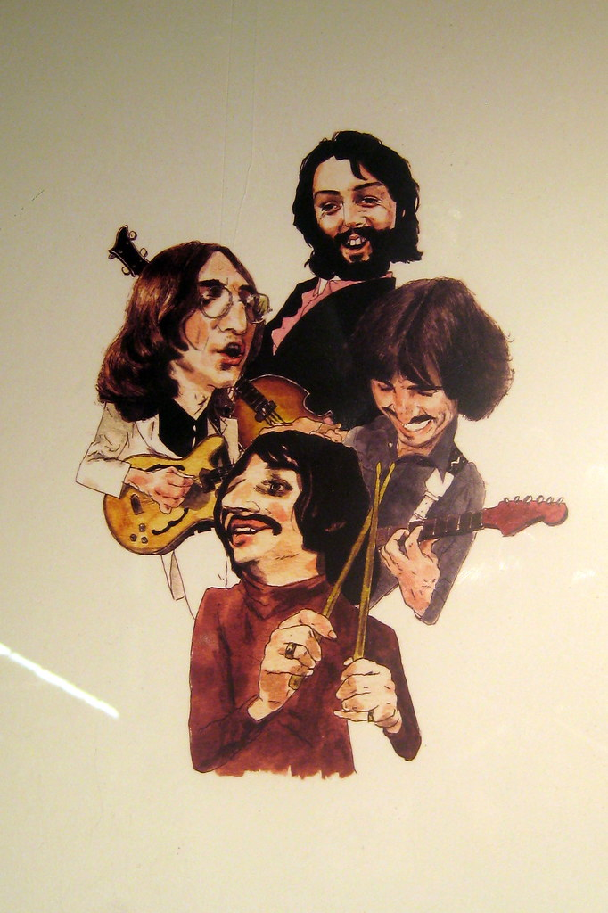 NYC - Chelsea Market - The Beatles caricature | With the ...