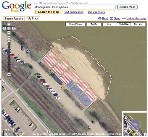 American Flag In Google Maps American Flag Seen On The