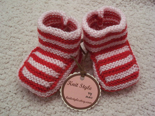 Baby Bootees CINNAMON STICK | by knitstyle