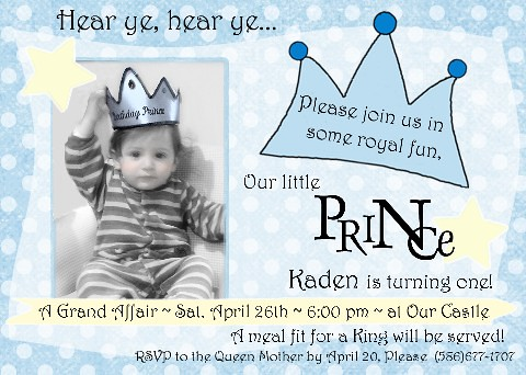 Lil Prince 1st Birthday Invitation amyscustomgreetingscom Flickr