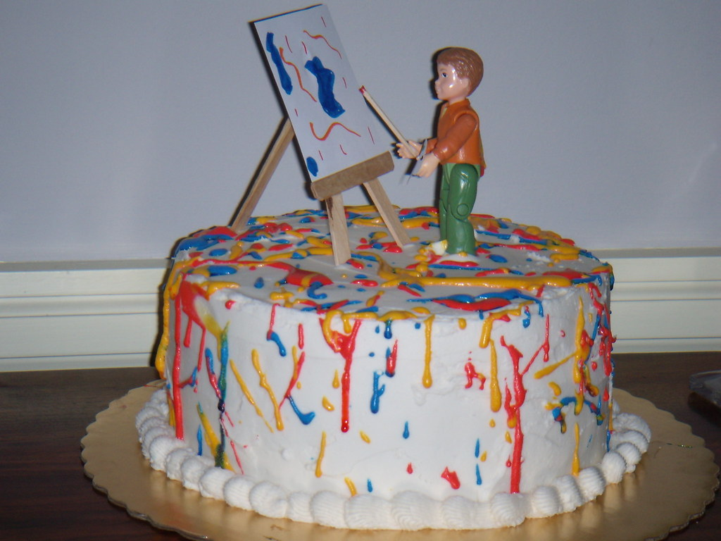 Painter birthday cake my nephew asked if i could make a for Cake craft beavercreek ohio