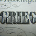 GRIEG font close up