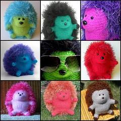 Huggable Hedgehog Knitting Pattern : Hedgehog Mosaic 1. Neon Fibertrends Huggable Hedgehog, 2 ...