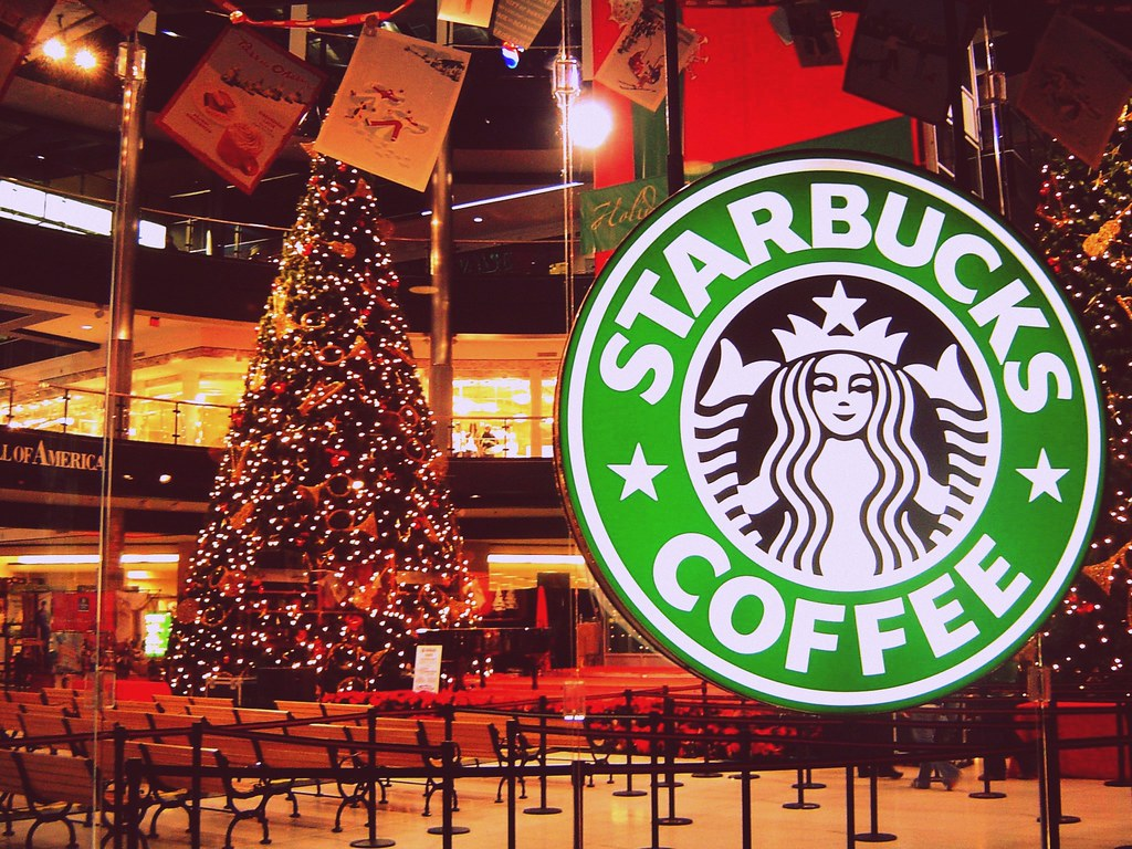 Christmas At Moa Starbucks The Mall Of America Is The