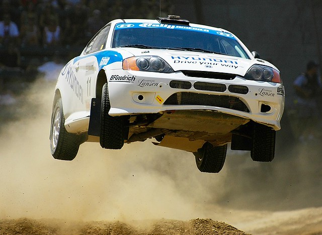 X Games Rally Car Racing A Rally Car Gets Huge Air Off