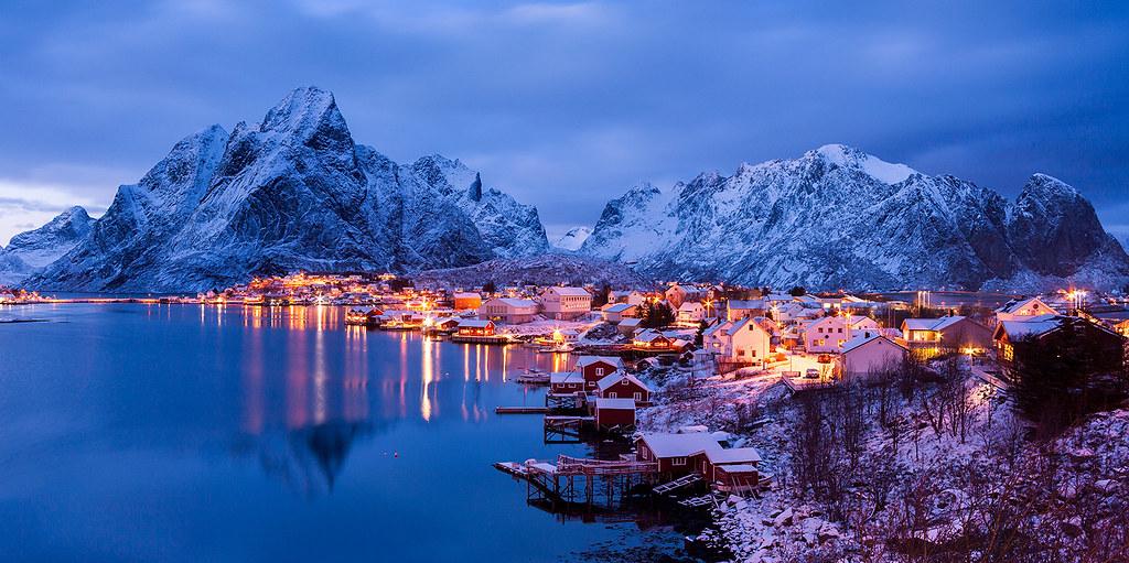 Arctic Blue Reine Lofoten Norway Reine Lofoten