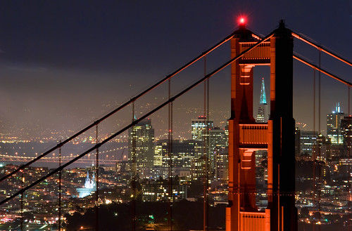 Golden Gate Bridge and San Francisco at night | by canbalci