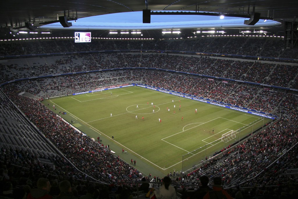 wide angle shot from the top corner of the allianz arena flickr. Black Bedroom Furniture Sets. Home Design Ideas